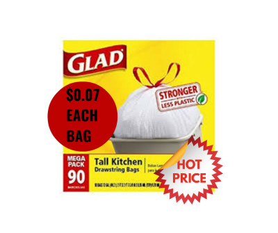 HOT HOT HOT Deal on Glad Trash Bags; $0.07 each