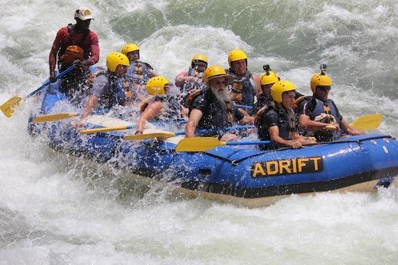 Adrift Uganda. Rafting Through Uganda.