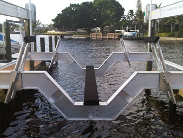 Custom Aluminum Boat Lifts