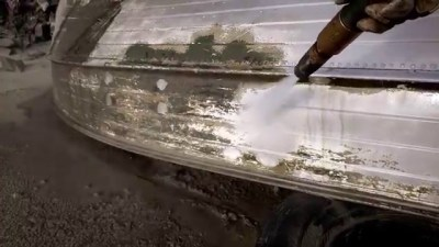 lime and grime removal from boat