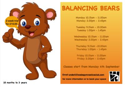 Balancing Bears (18 months - 3 years)