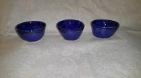 Three Blue Tea Cups
