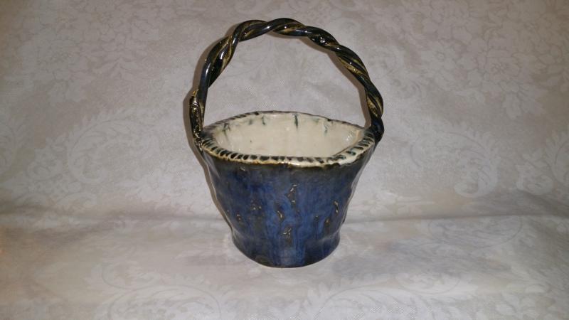 Braided Blue Candy Dish
