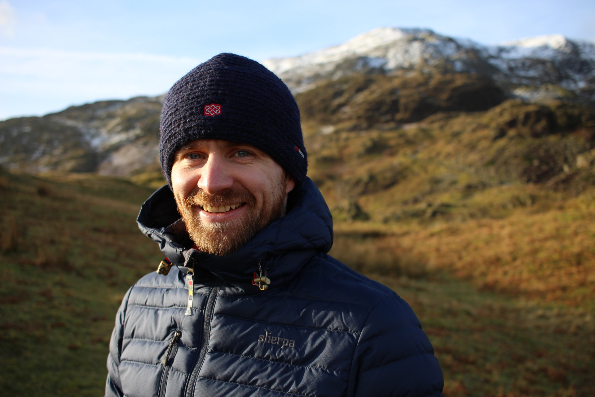 The new Nangpala Jacket with the Old Man of Coniston in the background