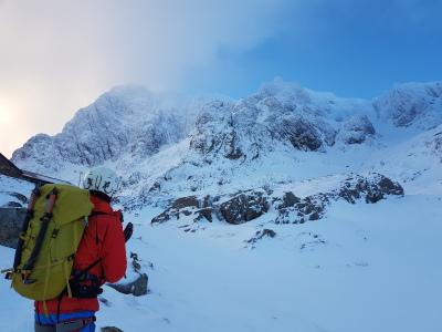 Winter climbing in Scotland