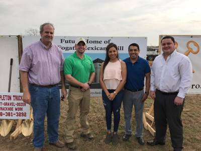BIG turnout at the groundbreaking ceremony today for La Fogata Mexican Grill