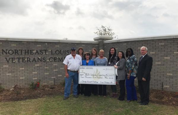 Cross Keys and Envoy Mortgage donate to Northeast Louisiana Veterans Cemetery.