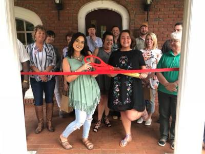 Ribbon Cutting at Magnolias and Lace Boutique and Tanning Salon