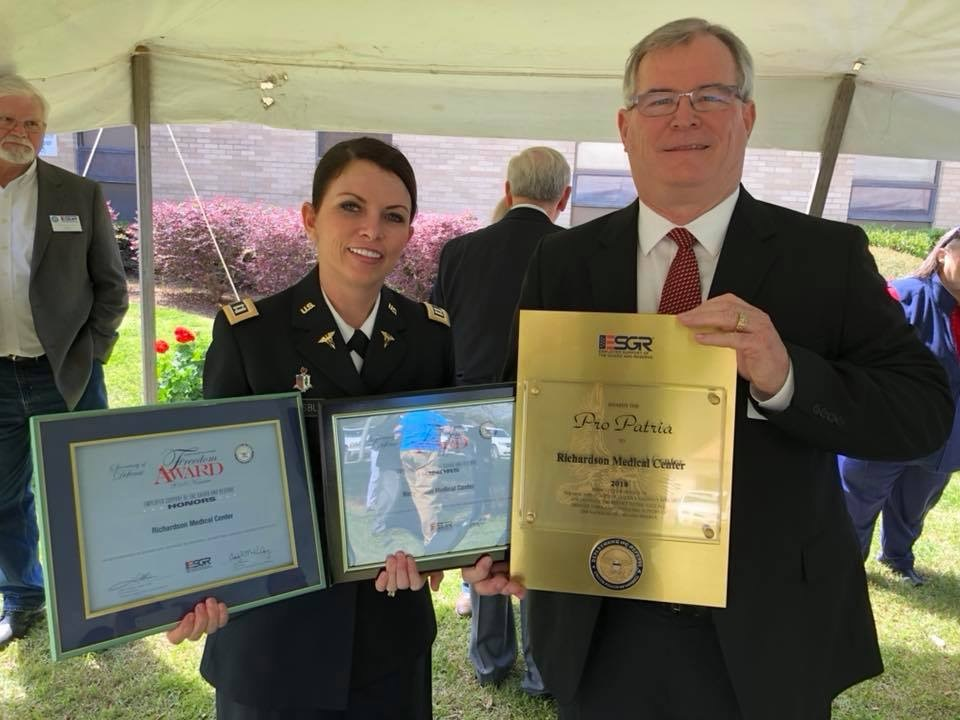 Richardson Medical Center recognized by Department of Defense; wins the Pro Patria awar
