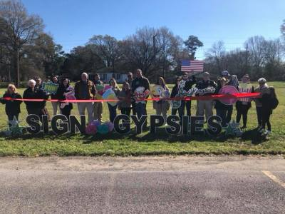 Ribbon Cutting for The Sign Gypsies!
