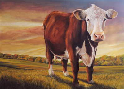 """My Neighbor's Cow""   SOLD"