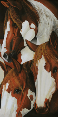 """Painted Posse""  SOLD"