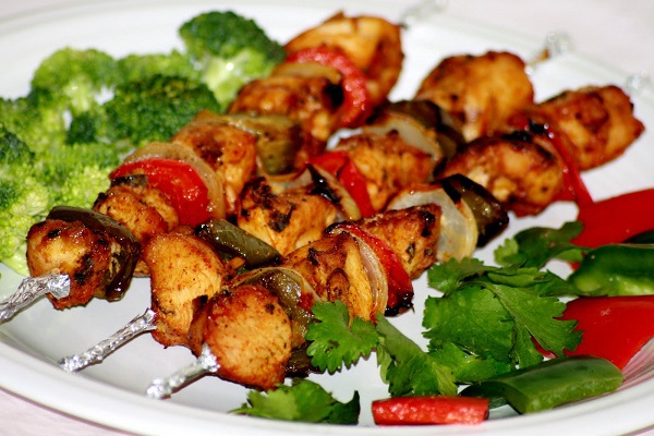 Chicken seekh kebabs