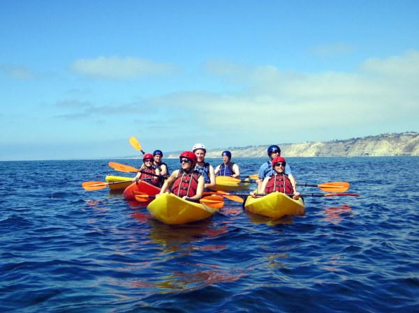 Singles kayaking