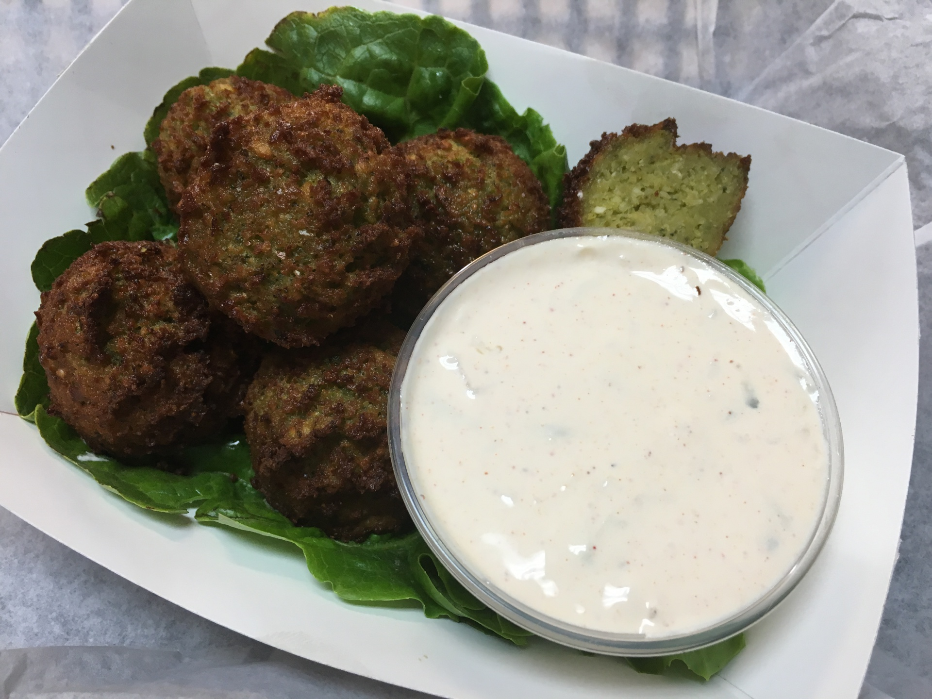Falafel Appetizer with Tzatziki sauce