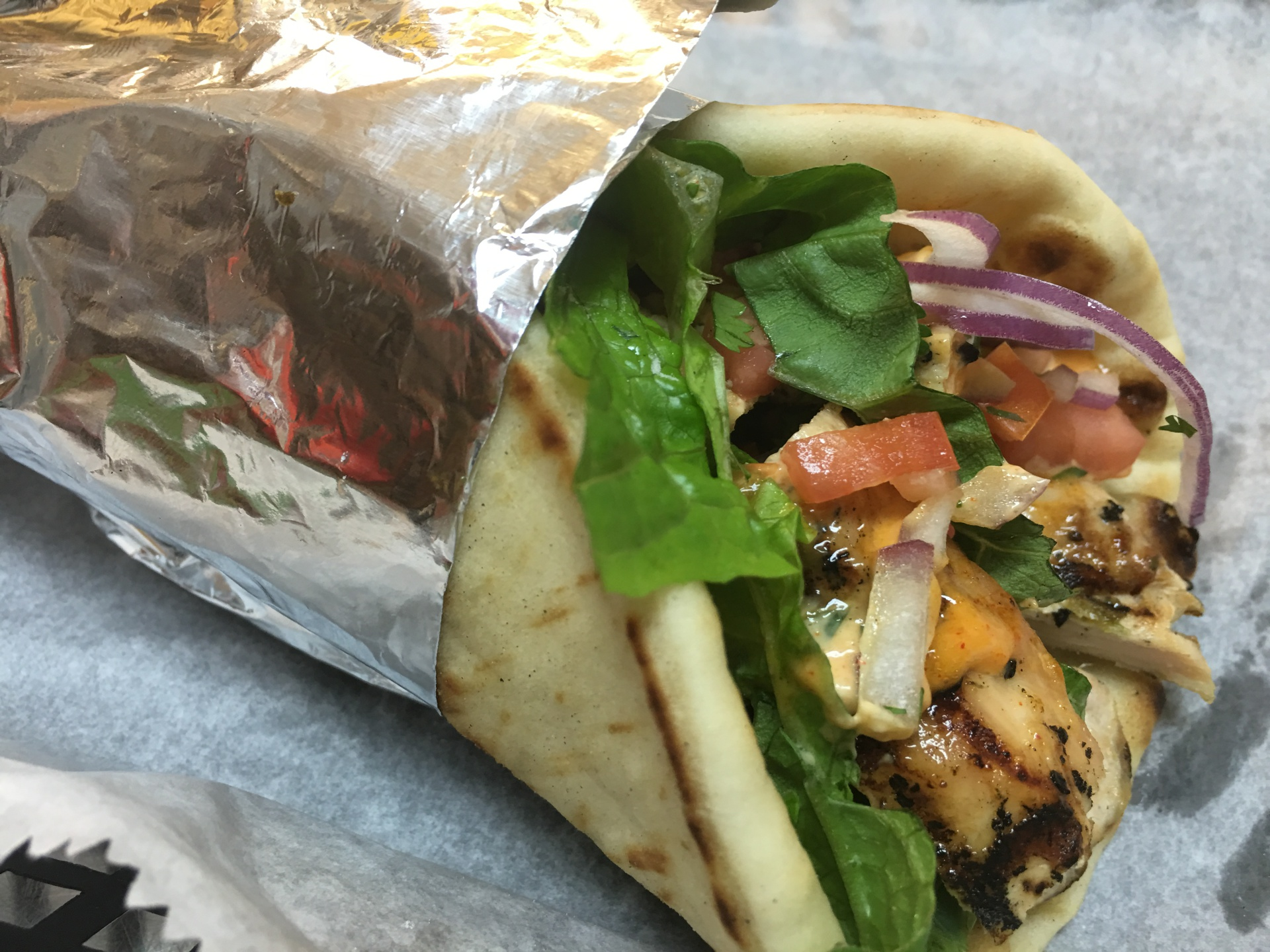 Grilled Chicken Pita