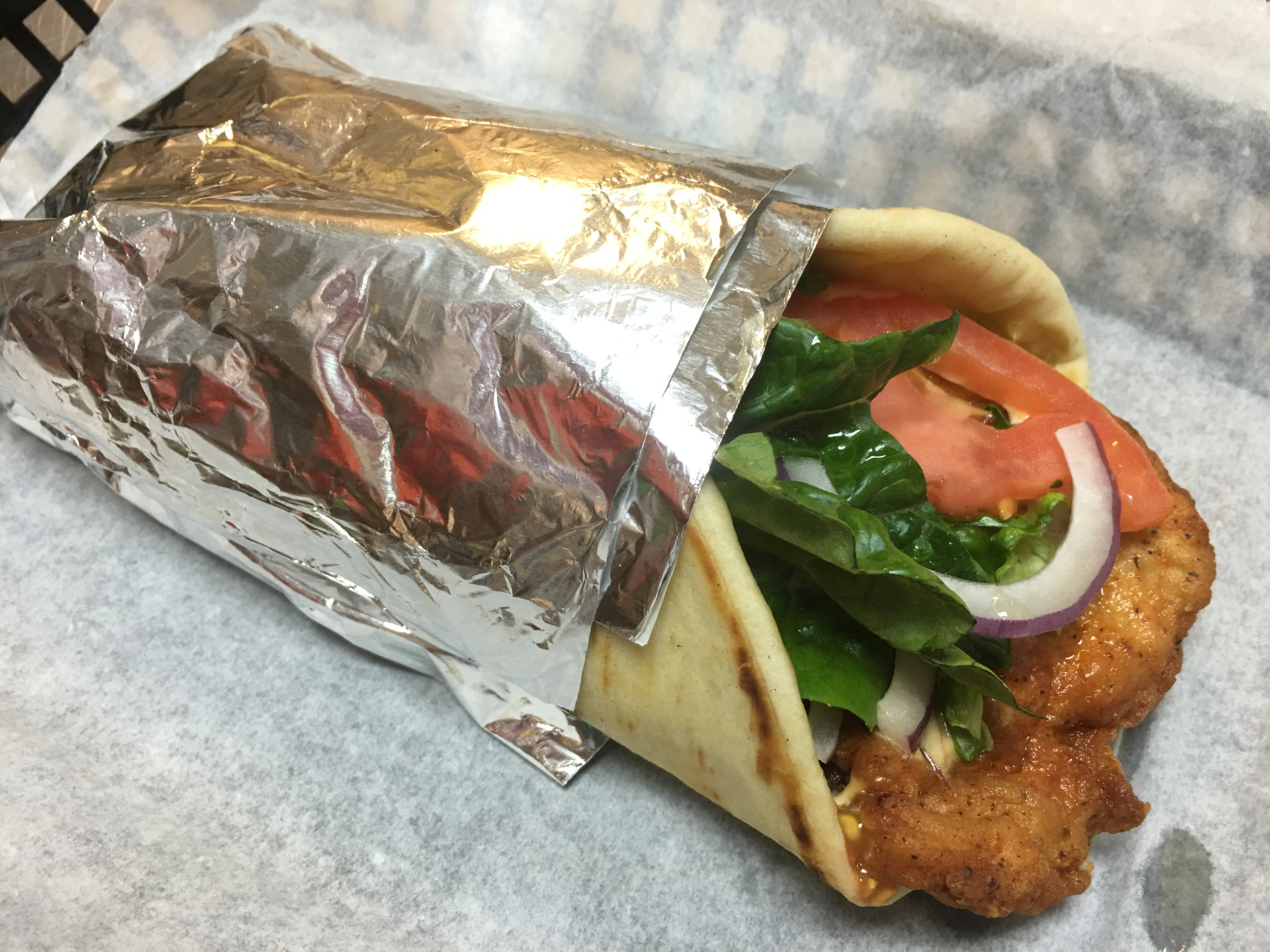 Fried Spicy Chicken Pita