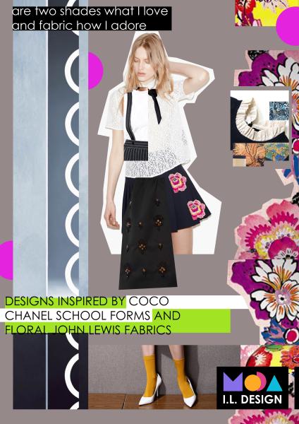 Fashion design editoral idea.