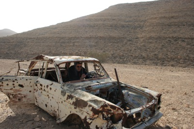 Car trouble in the Negev