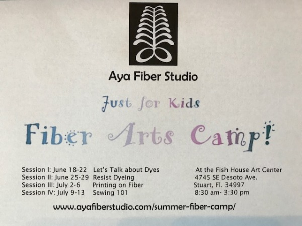Summer Camp at The Aya Fiber Studio