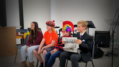 The Youth performing a drama at the recent family service