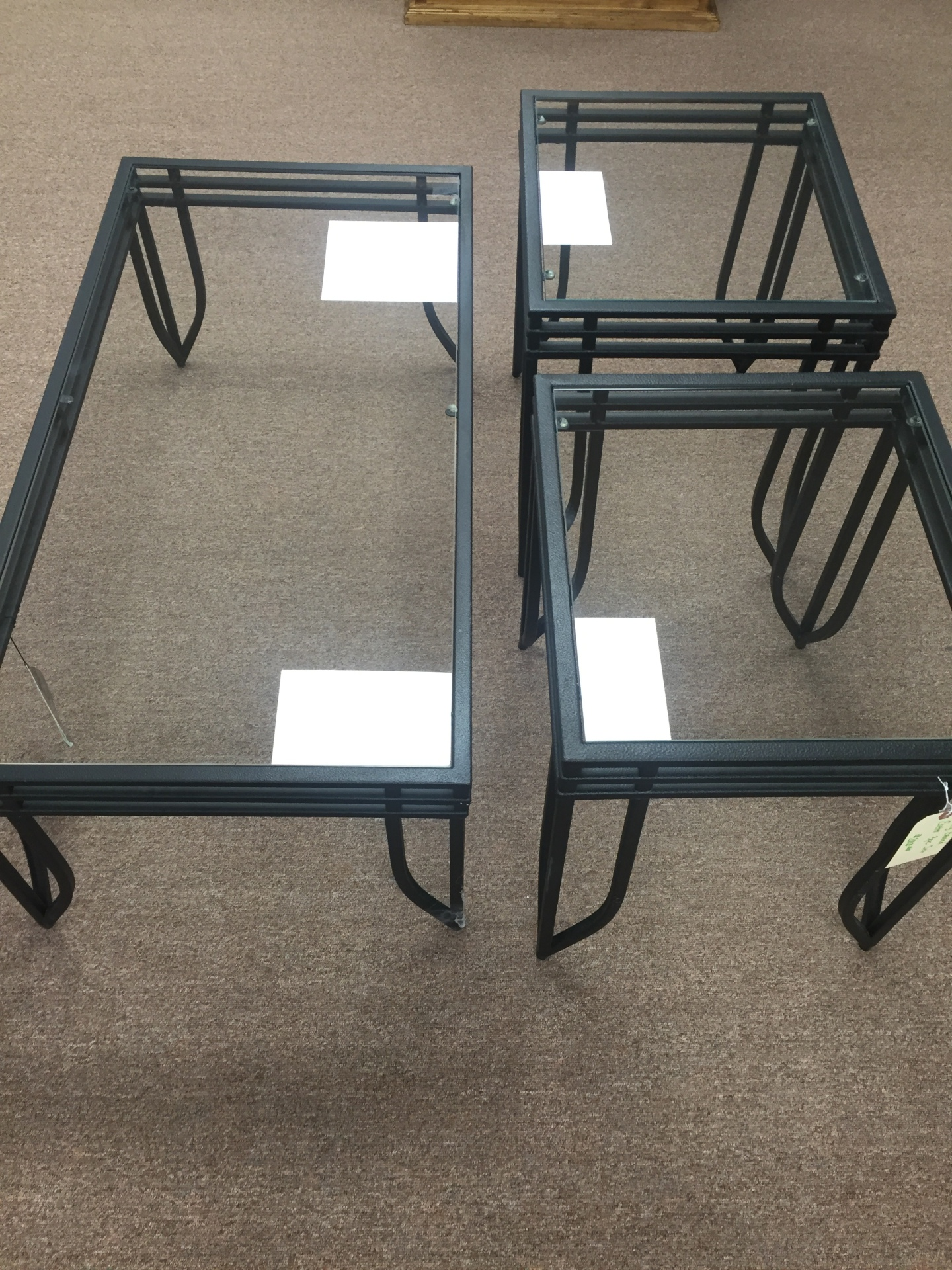 Ashley coffee table/2 end tables