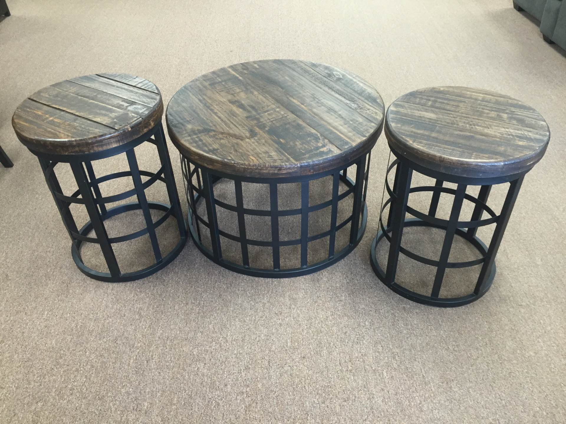 Vintage Rodeo Coffee table & End tables
