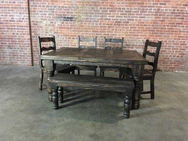 Vintage Big leg table