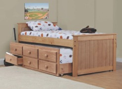 Captain's Bed Twin  w/ trundle-3 drawer