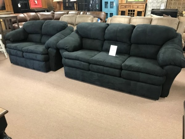 Sensations Black Sofa & Love seat Set