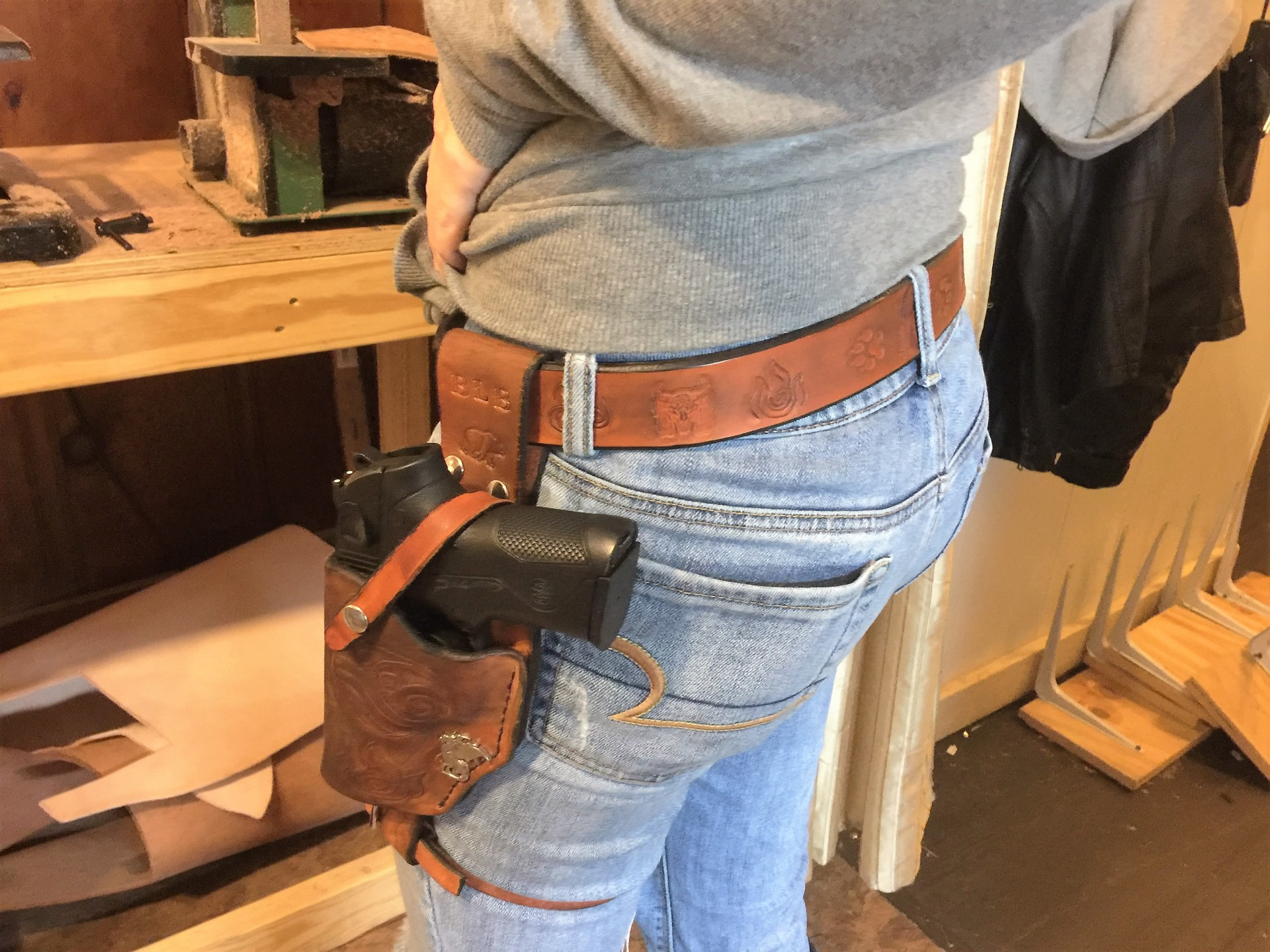 Side Rig Gun Holster & Belt