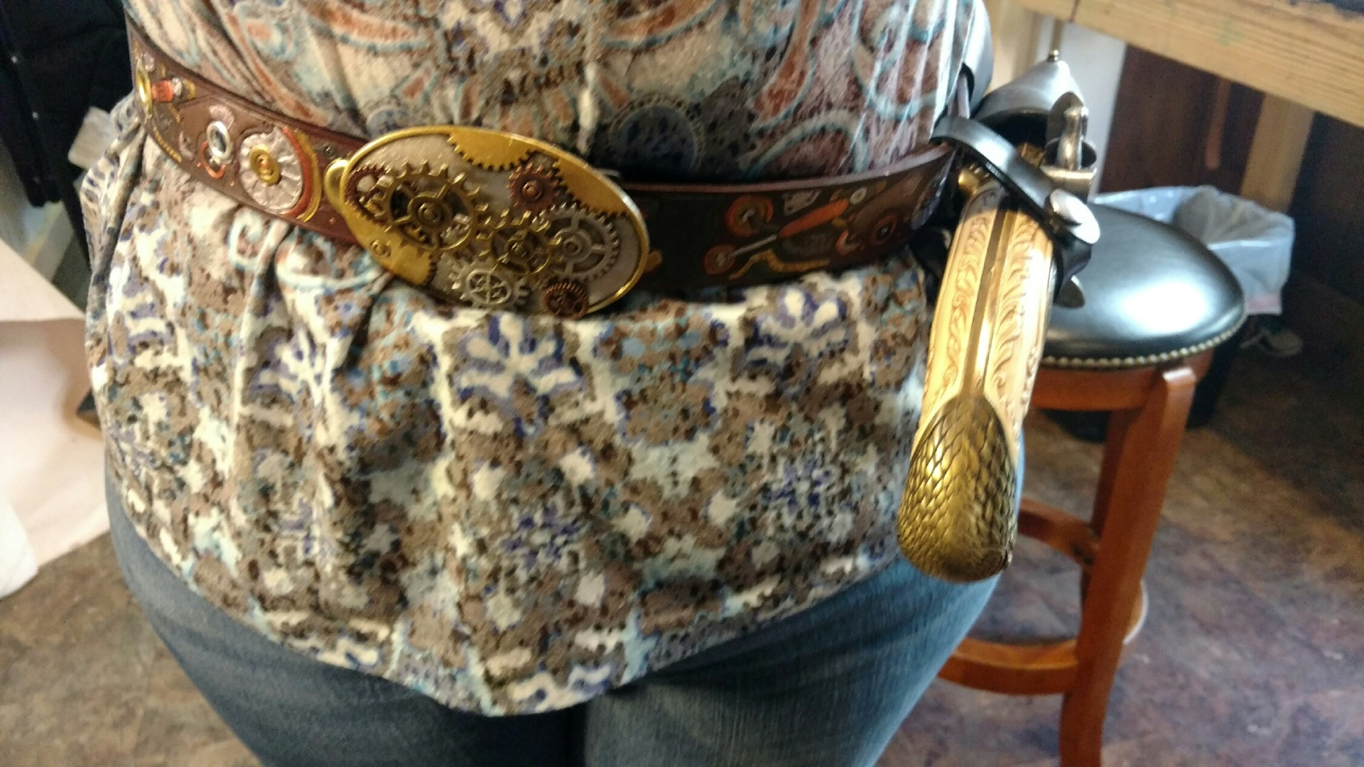 Steampunk Belt w/Gear Buckle