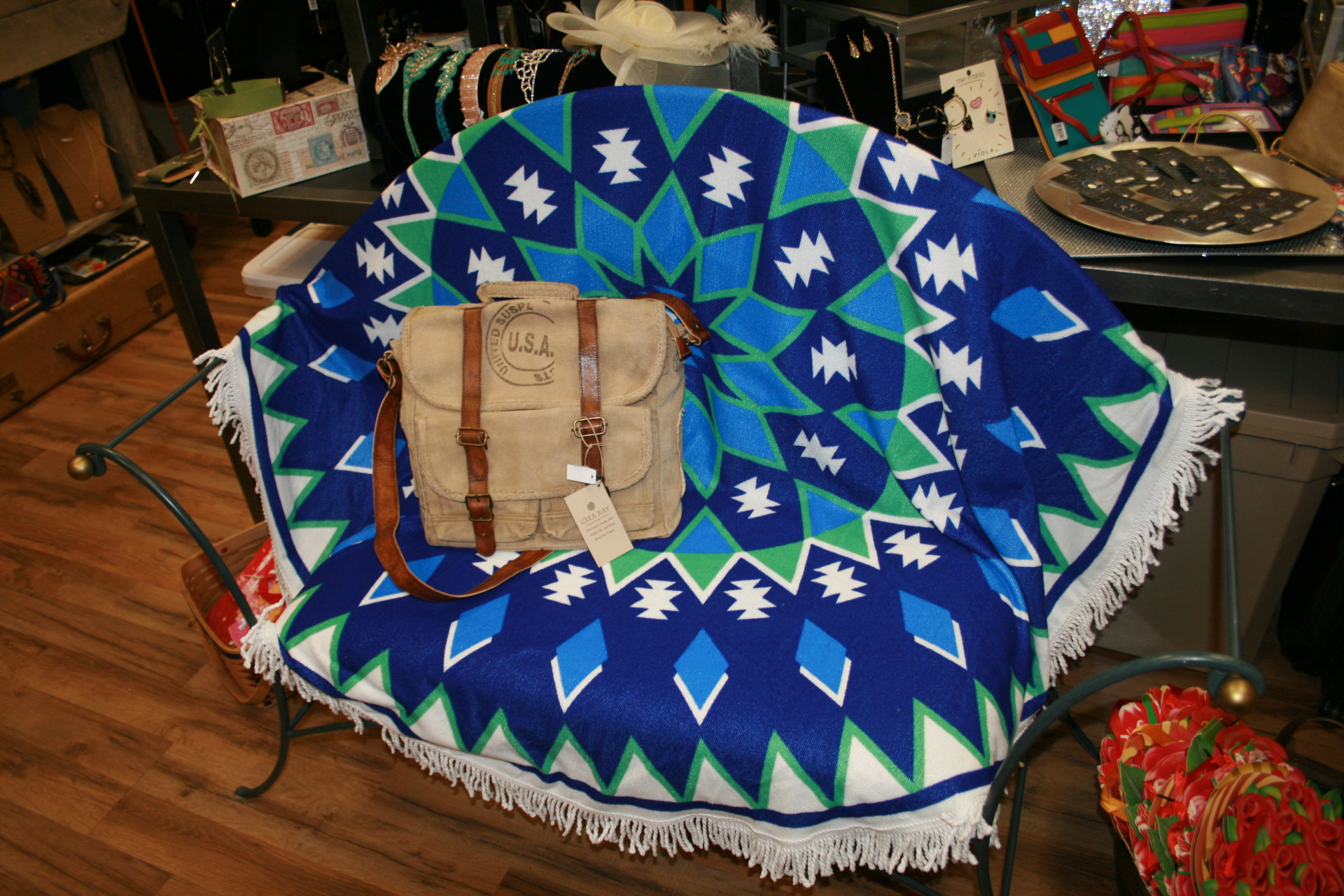 Beach Towel with Recycled Crossbody