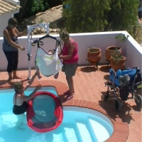 pool hoist-heated swimming pool-disabled holidays-The Algarve-Portugal