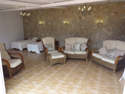 open plan lounge bedroom
