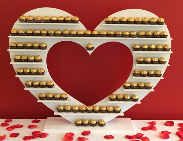 Mini Heart Ferrero Rocher Stand holding 72 at one time