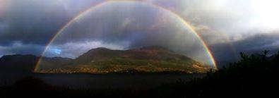 Rainbow taken from lounge window.