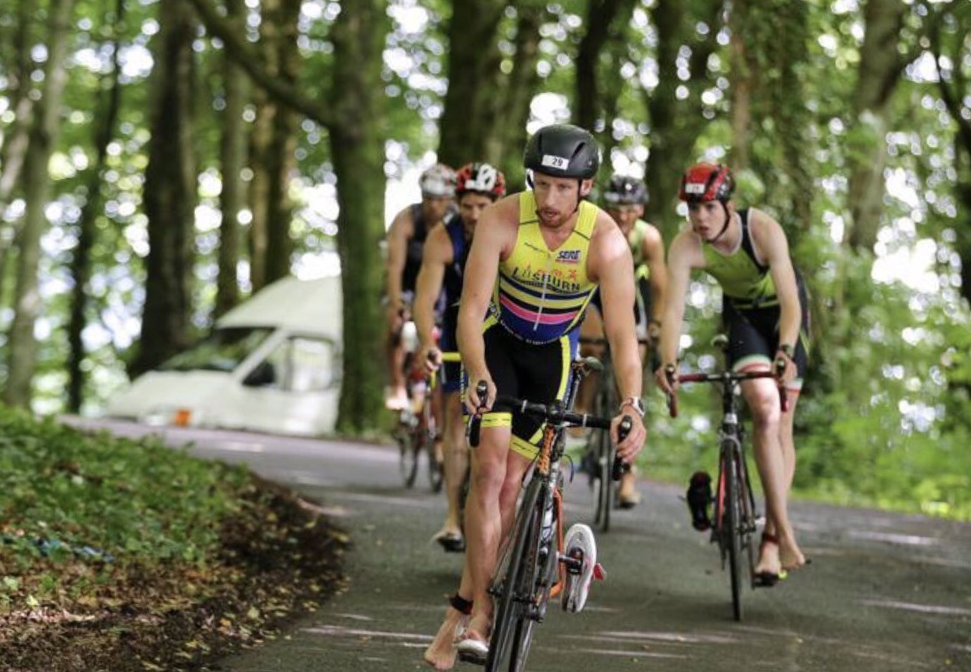 Michael competing in Triathlon Ireland Category 1 races