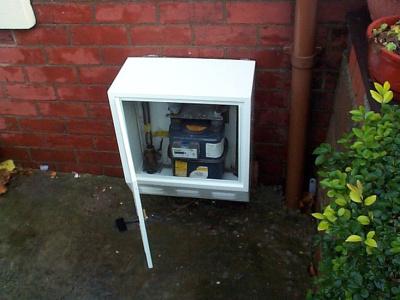 gas meter box cover in metal