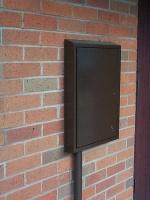 brown metal meter box cover