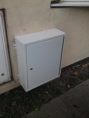 stainless steel meter box cover in white