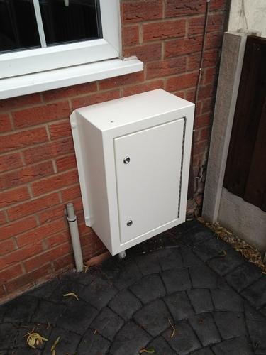 metal meter boxes for gas meters or electric meter boxes