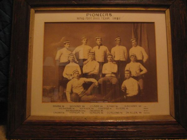 1881 Football Team Picture