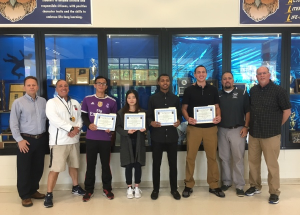 2017 Scholarship Recipients and Coaches 06-08-18