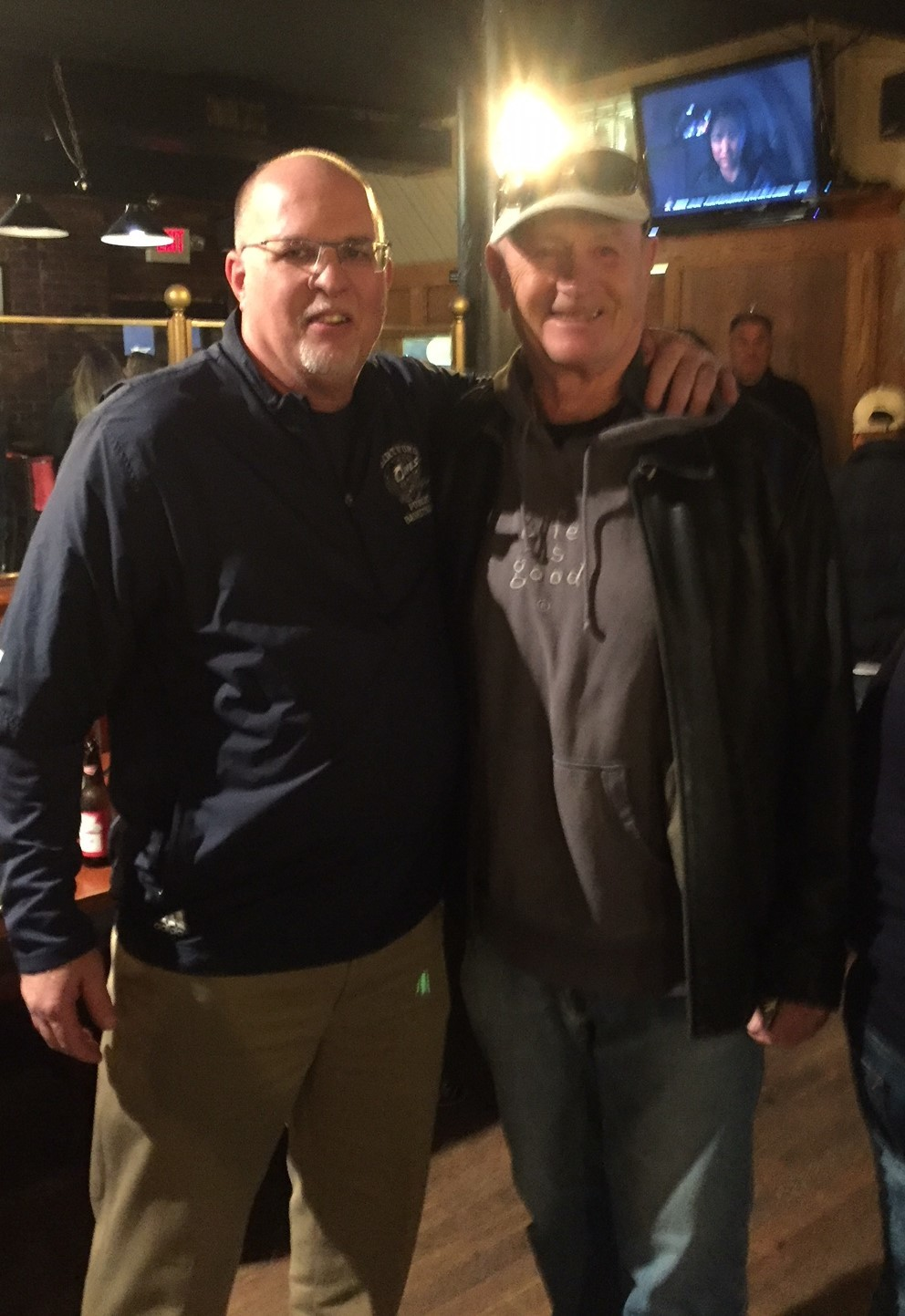 HOF Coach Stan Piorkowski with new Coach Joe Lombardo 11-17-17