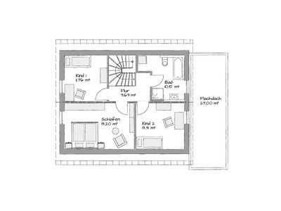 german flat pack home first floor layout