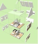 Exploded View of Prefab House