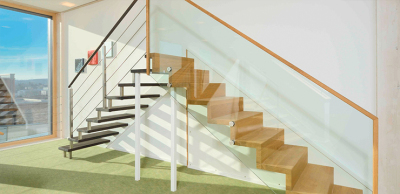 Stairs with glass