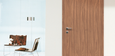 Interior door grained
