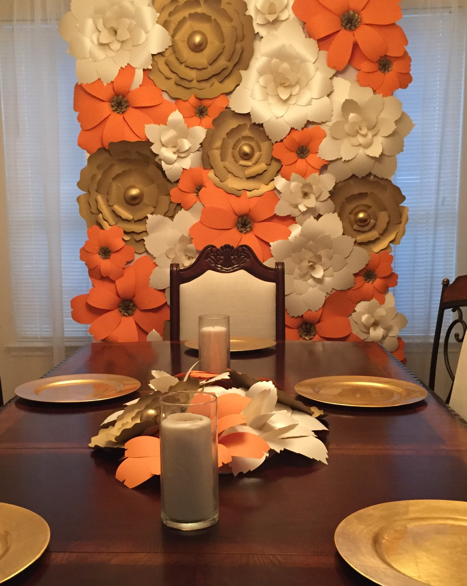 fall wedding. fall decor. wedding decor. paper flower wall. flower wall. birthday decor. baby shower. bridal shower. womens conference. venue decor. country wedding.  quinceanera.